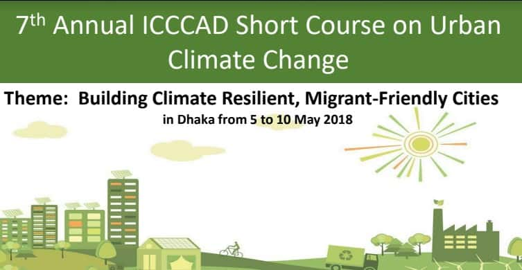 7 Th Annual ICCCAD Short Course On Urban Climate Change
