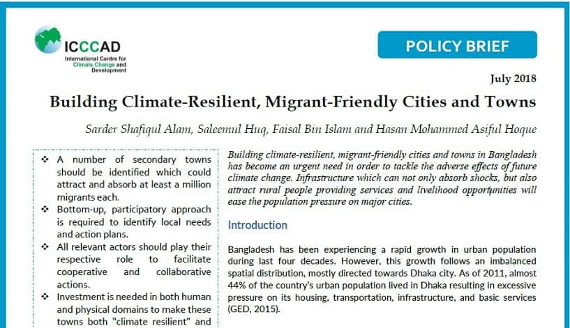 Image-Policy Brief on Climate, Migration, and Cities-ICCCAD