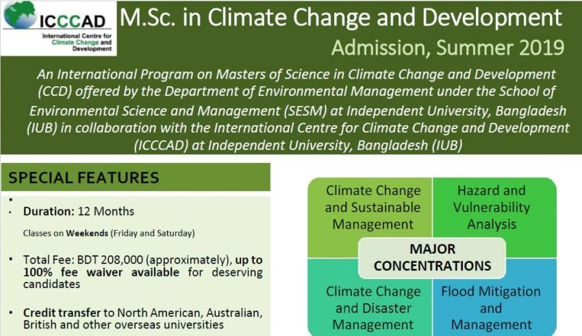 Master's in Climate Change and Development | International